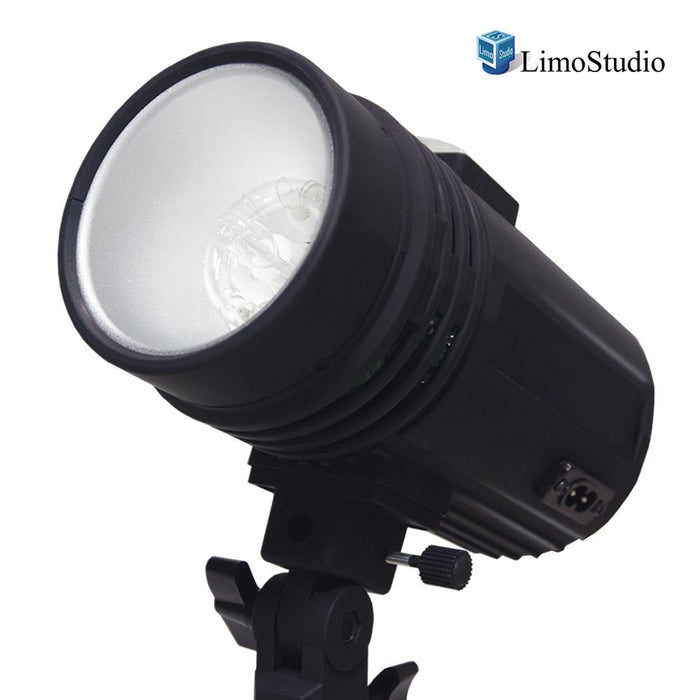 200 Watt Studio Flash/Strobe Light, Fuse, Test Button, Wireless Triggering Available, Umbrella Input, Mount on Light Stand, Professional Photography Use, Photo Studio, AGG2044