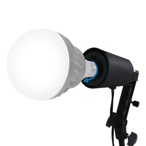 Single Head Photo Bulb Socket with Flash Bracket E26 / E27 Standard Base Size, Flash Lock Button, Umbrella Reflector Insert, Light Stand Tripod, Carry Bag, Photo Studio, AGG2048