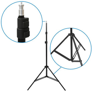 2 Sets of 18W LED Table Top Lighting Kit with Light Stand Tripod &Portable Ecommerce Business Shooting Table White Background, AGG2050