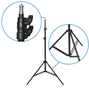 Single Head Photo Bulb Socket with Flash Bracket E26 Standard Base Size, Flash Lock Button, Umbrella Reflector Insert with Light Stand Tripod and Extension Cord, Photo Studio, AGG2053