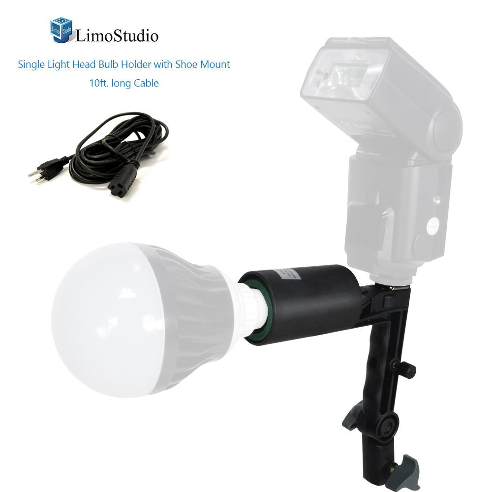 2 Pack Photo Bulb Single Head AC Socket AGG2308 Light Stand Mount On//Off Switch Umbrella Reflector Mount Hole Safety Fuse Included LimoStudio ETL UL Safety Regulation
