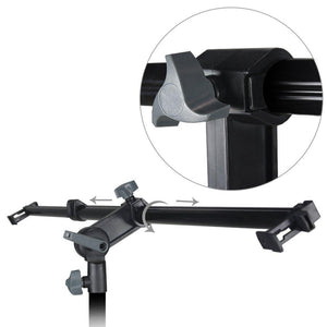 26 - 48 inch Swivel Head Reflector Arm Support Holder, Easy Spring Clip Install, Mount on the Light Stand Tripod, Photo Studio, AGG2056