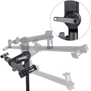 LimoStudio 26-48 inch Swivel Head Reflector Arm Support Holder, Easy Spring Clip Install, Mount on The Light Stand Tripod, Photo Studio, SRE1172
