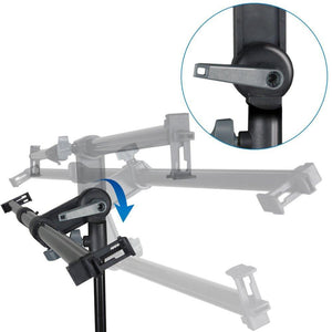 Swivel Head Reflector Arm Support Holder with Light Stand Tripod and 43 inch 5 Color in 1 Round Reflector Disc Panel, Photo Studio Kit, AGG2059V2