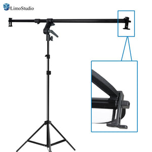 Swivel Head Reflector Support Holder Cross Arm, Boom Stand Arm Bar, Max Reflector Holding Length 48 Inch with Light Stand Tripod, Photography Studio, AGG2073