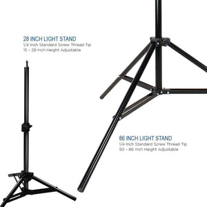 Umbrella Reflector Video Studio Continuous Lighting Kit, Silver & Gold Umbrella, Photo Bulb & Socket with Umbrella Insert Hole, Light Stand Tripod, Carry Bag, Photograph Studio, AGG2106