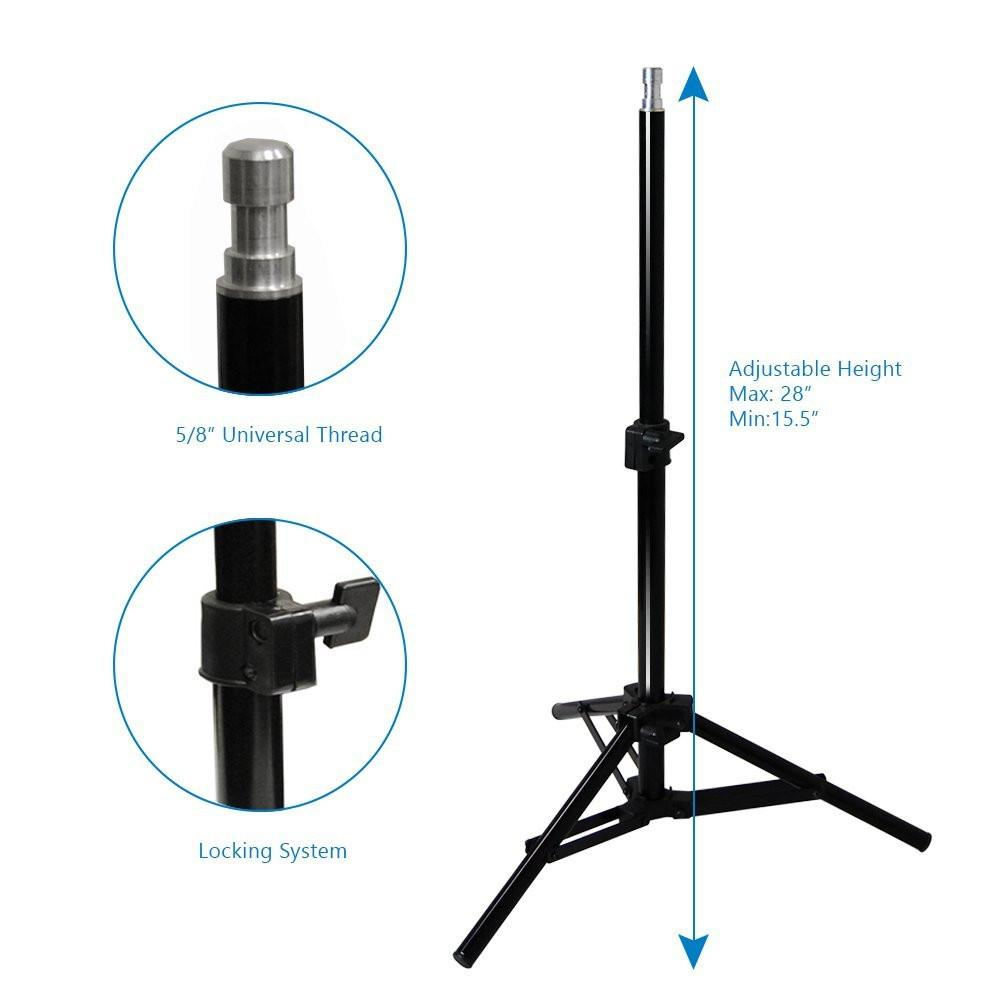 UL 1573 ETL Listed AGG2109 Photography Studio LimoStudio 600W 5500K Photo Video Studio Continuous Lighting Kit Bulb Socket with Umbrella Holder