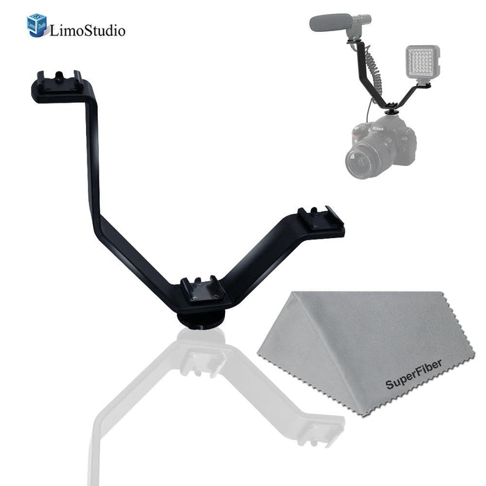 Cold Shoe Mount V Shape Bracket for Video Camera Lights, Microphones or Monitors, Photo Studio Camera Accessories, AGG2118