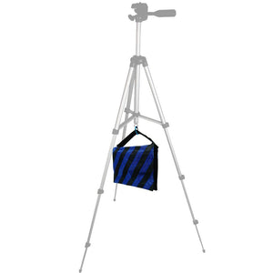 3 Packs of Heavy Duty Photographic Sand Bag Blue Stripe, Video Photo Studio Weight Bag for Light Stand Tripod, Boom Arm Stand, 20 lbs Max Capacity, Saddlebag Design, Photo Studio, AGG2120