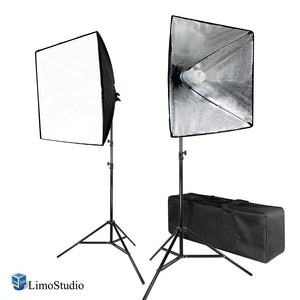 700W Photo Softbox Lighting Kit, Studio Light Diffuser Reflector 24 x 24 Inch, Photo Equipment Carry Bag, Photography Studio, AGG2138