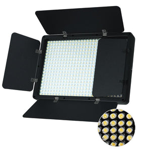 LED Barn Door Light Panel, Dimmable Brightness Control, Color Temperature Control by Color Filter Gel, Continuous Lighting Kit, AC Power Cord, Photo Studio, AGG2216