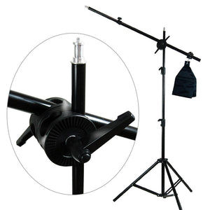 LED Barn Door Light Panel with Light Stand Tripod, Including Color Filter Gel, Foldable Studio Lighting Photo Shoot Table, Octagon Soft Box with Boom Arm Stand, Photo Studio, AGG2223