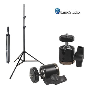 [2 PCS] Aluminum Alloy 360° Swivel Rotating Mini Ball Head with Lock and 1/4 Inch and 3/8 Inch Female Thread Base Bottom, 1/4 Inch Screw Top, Light Stand Tripod, Photo Studio, AGG2234