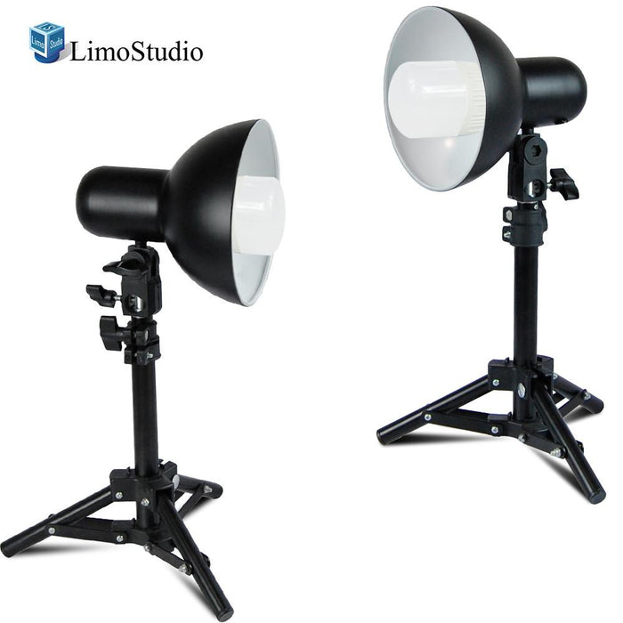 2 Packs of Table Top Mini LED Light Stand with Light Lamp & Bulb, Compact and Portable Lighting Photo Studio, LED Photo Light Bulb for Commercial Product Shoot, Photo Video Studio, AGG2239