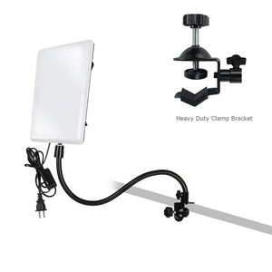 LED Light Panel with Goose Neck Extension Adapter, Mini Table Top Camera Light Stand, Seamless Studio Matte Cyclorama Module Background Tray, Photo Video Lighting Studio Kit, AGG2240