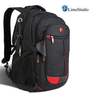 "15"" 16"" 17"" Laptop Computer Notebook School backpack with Headphone Port, AGG2264"