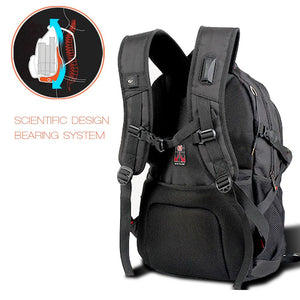 "Laptop Backpack 17"" Black Bag Shoulder Bag Outdoor School Travel Business, AGG2265"