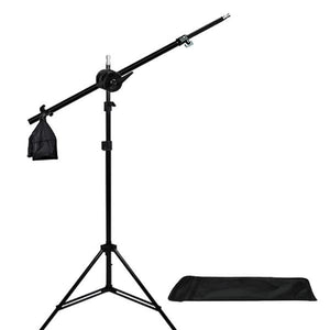 Photo Video Studio 2400 Watt Softbox Continuous Light Kit with Overhead Head Light Boom Kit, Energy Saving Bulb, Light Stand Tripod, Sand Weight Bag, Photography Studio, AGG2285