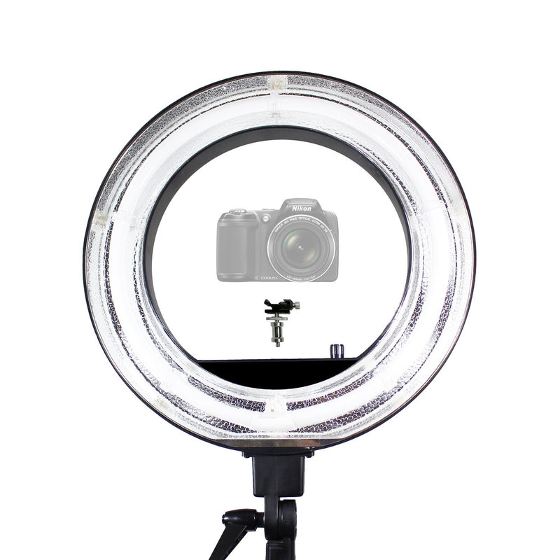 18 inch Fluorescent 5500K Dimmable Ring Light and Portrait Light??with Ring Light Diffuser Cloth (White, Orange) for less Contrast and Soft Lights, Warm to Cool Colors, AGG2328