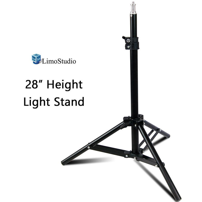 "28"" Max Height Mini Aluminum Photography Back Light Stands for Table Top Photo Studio Lights, AGG2341"