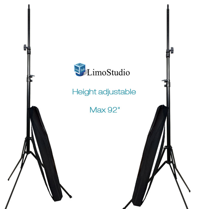 LimoStudio (2 Sets of) 92 Inch Light Stands Tripods Die-cast Metallic Material Stand with Carry Bag, SRE1229