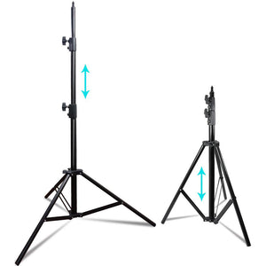 "86"" Photo Video Studio Aluminum Adjustable Light Stand Heavy Duty Tripod, AGG2344"