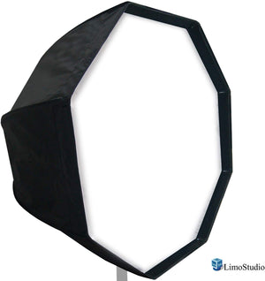 LimoStudio 32 inch Diameter Octagon Umbrella Softbox Reflector, White Soft Lighting Diffuser Cover and Carrying Bag, SRE1136