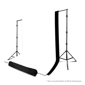 Photo Studio 10 x 7.5 Ft. Adjustable Background Stand Backdrop Support System Kit with Carry Bag, AGG2378