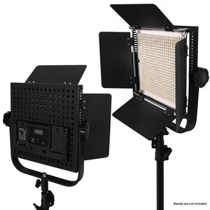 LED 600 Photographic Lighting Panel with Digital Display Screen, Photo Studio Barndoor Light, Continuous Video Light, Brightness Control Available, AGG2381