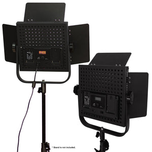 2-Pack LED 600 Photographic Lighting Panel with Digital Display Screen, Photo Studio Barndoor Light, Continuous Video Light, Brightness Control Available with Cleaning Cloth, AGG2384