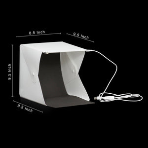 LimoStudio 40 LED Lighting Photo Shooting Tent, White Plastic Portable and Collapsible Lighting Diffuser Box, Black and White Backdrops for Small Product Image Creation, SRE1236