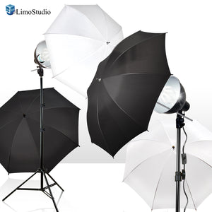 LimoStudio 2-Pack Reflector Dish Metal Lamp with Continuous Lighting Bulb and Umbrella Reflector, Lamp Socket and Umbrella Reflector Holding Slot, Light Stand Tripod, Photo Studio, SRE1223