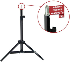 Limostudio [2-Pack] 28-inch Height Adjustable Photography Light Stand Tripod, Thick and Sturdy for Photo Video Studio , SRE1180
