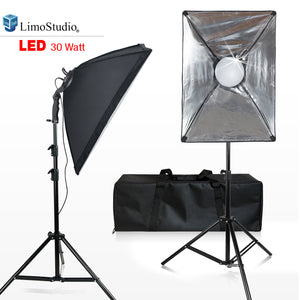 LimoStudio [2-Set] Photo and Video Softbox Lighting Kit with 144 LED Photo Light, 18 x 26 inch Soft Box and White Diffuser, Heavy Duty Adjustable Studio Light Stand Tripod, and Carry Bag, SRE1203