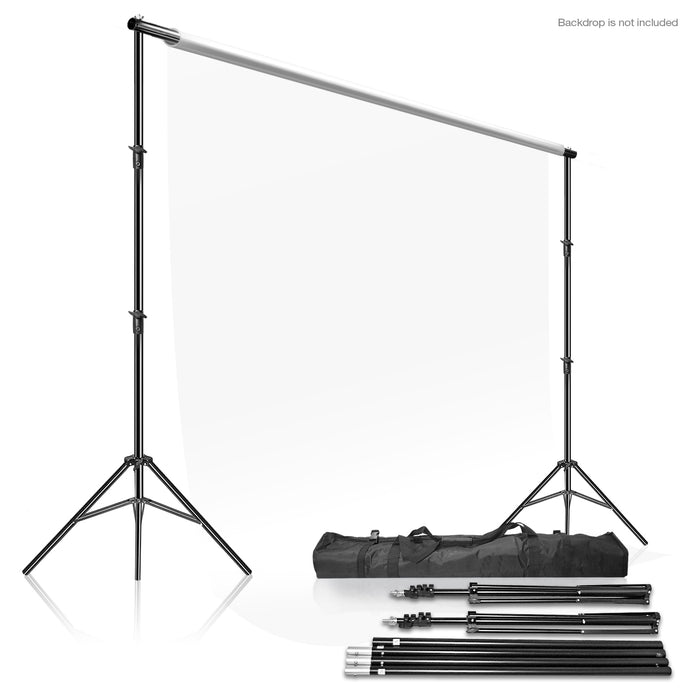 LimoStudio Photo Video Studio 10' x 9.4' (W x H) Adjustable Muslin Backdrop Stands, Background Backdrop Support System Kit with Carrying Case Bag, SRE1010