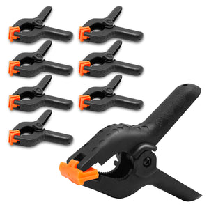 LimoStudio 8 PCS Adjustable Heavy Duty Clip for Muslin/Paper Photo Backdrop Background Clamps, 4.5 inch with Camera Adapter Clamps, SRE1262