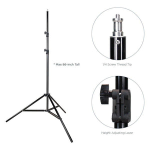 5500K 600W Photo Video Studio Continuous Lighting Kit UL1573 ETL Listed, Black & White Umbrella Reflector, Heavy Duty Carry Bag, Light Stand Tripod, Photography Studio, AGG288