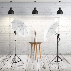 "LimoStudio Photography Photo Portrait Studio Day Light 33"" Translucent Natural Lighting White Umbrella Continuous Lighting Kit, SRE1273"