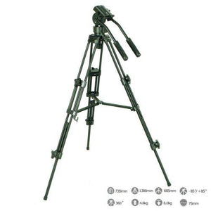 Professional Photo Studio Video Camera Tripod with Fluid Drag Head and Carry Bag, AGG308