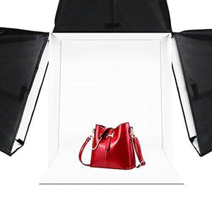 20 inch x 20 inch Photography Photo Studio Square Light Box Tent with 4 Colors Backdrops (Red / Blue / Black / White) for Photography, AGG322