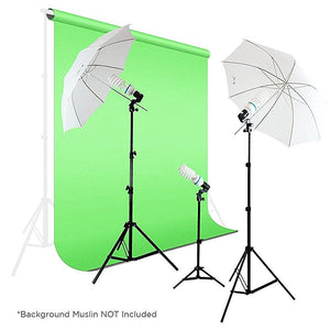 4 Continuous Background Lights Photography Video Studio Digital Umbrellas Lighting Light Kit, AGG329