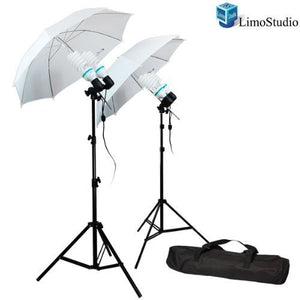 LimoStudio 1200 Watt Photography Video Photo Portrait Studio Umbrella Continuous Lighting Kit with [4x] 85 Watt Daylight CFL Bulb 5500K and Umbrellas, Case for Product, Portrait and Video Shoot, SRE1270