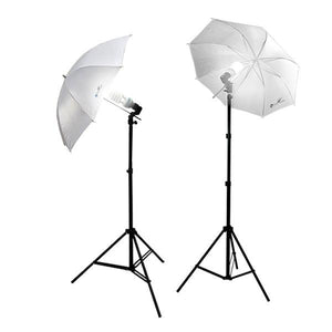 600 Watt Soft Umbrella Cool Flo Fluorescent Photo Studio Video Lighting Kit, AGG337