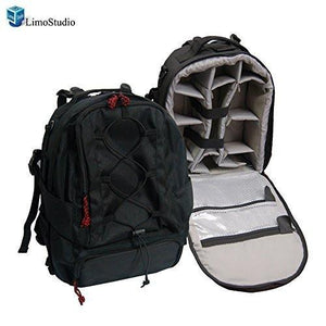 "Portable DSLR Camera Case Backpack for Digital SLR Camera, Video, 14"" Laptop, AGG353"