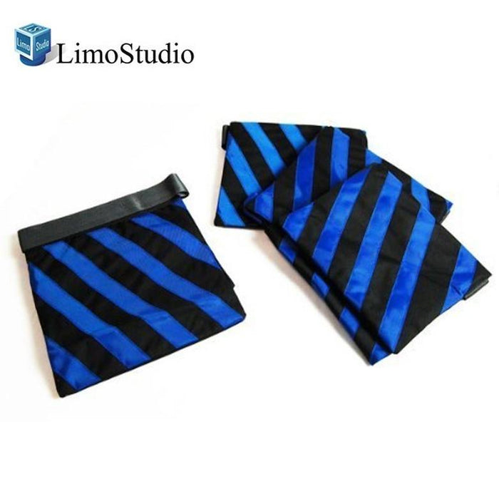 LimoStudio Heavy Duty Blue Stripe Weight Sandbags + Muslin Backdrop Spring Clamps for Light Stand Tripod, Photo Video Studio, AGG360_V2