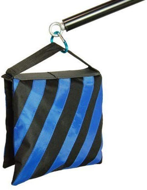 LimoStudio Heavy Duty Blue Stripe Weight Sandbags + Muslin Backdrop Spring Clamps for Light Stand Tripod, Photo Video Studio, SRE1174