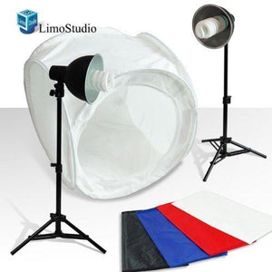 "Table Top Photo Photography Studio Lighting Light Tent Kit in a Box - 1 x 30"" Tent, 2 x Light Kits, AGG380"