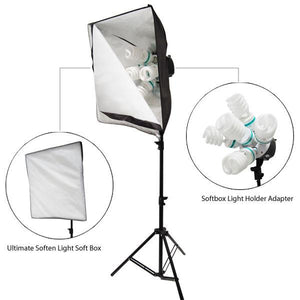 1000 W PHOTO SOFTBOX STUDIO CONTINUOUS VIDEO LIGHTING LIGHT KIT, AGG389