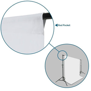 Photography 10' x 20' White Muslin Backdrop + 10' x 20' Black Muslin Backdrop Background, AGG417