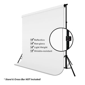 Studio Background Muslin 6' x 9' White Photography Backdrop + 6' x 9' Black Photography Backdrop, AGG419